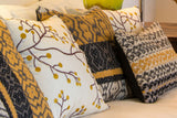 Stylized Mimosa Pillow Grouping