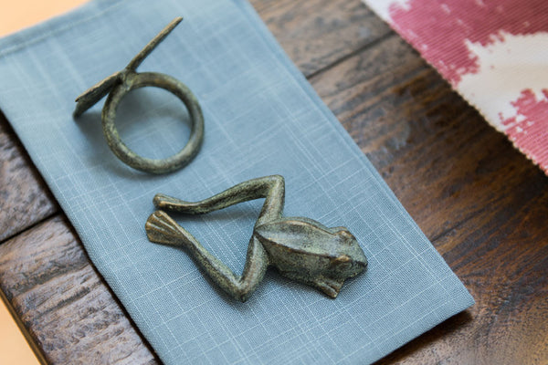 Whimsical Frog Napkin Rings S/