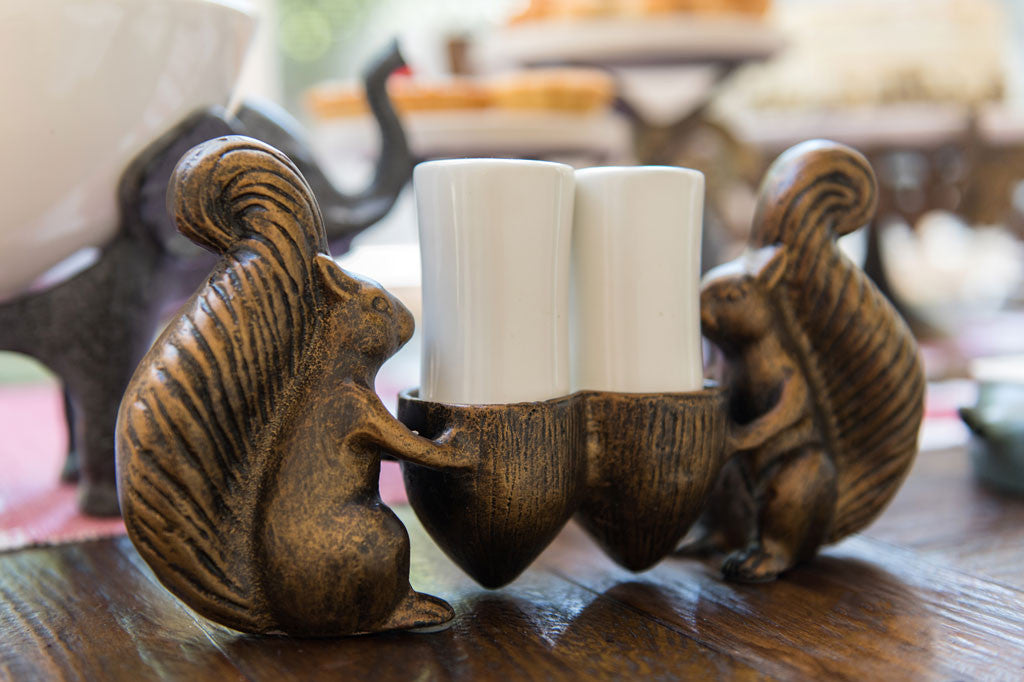 Whimsical Squirrel Salt and Pepper Shaker Set