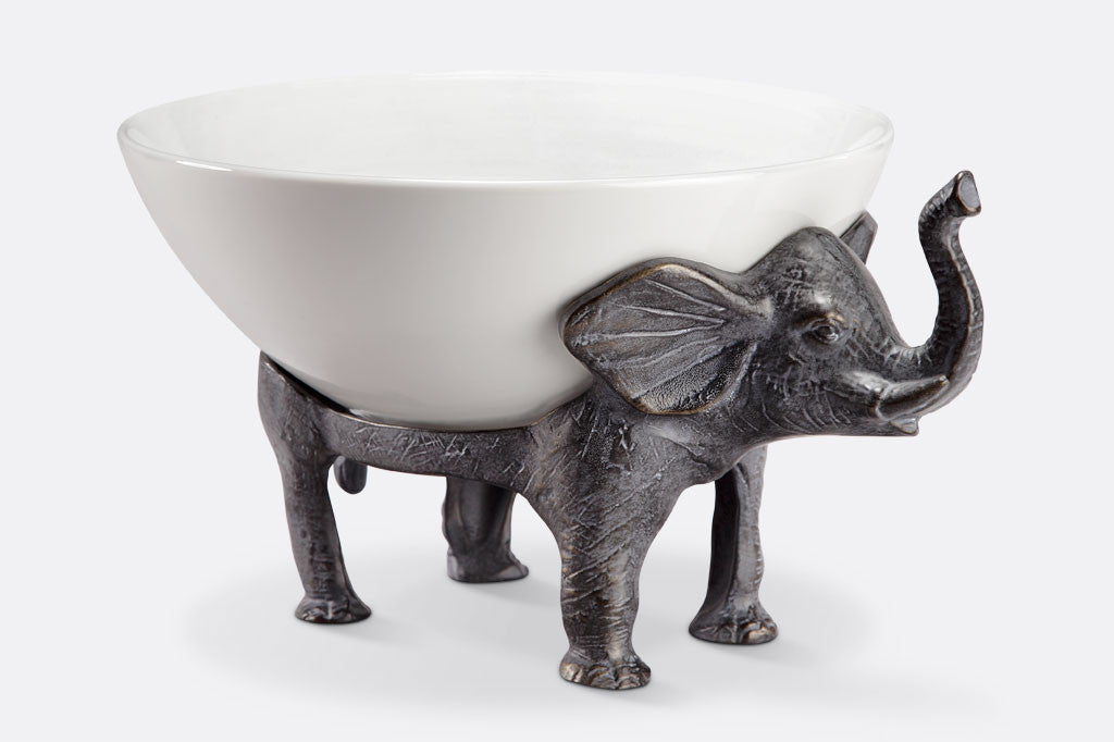 Whimsical Elephant Bowl Holder