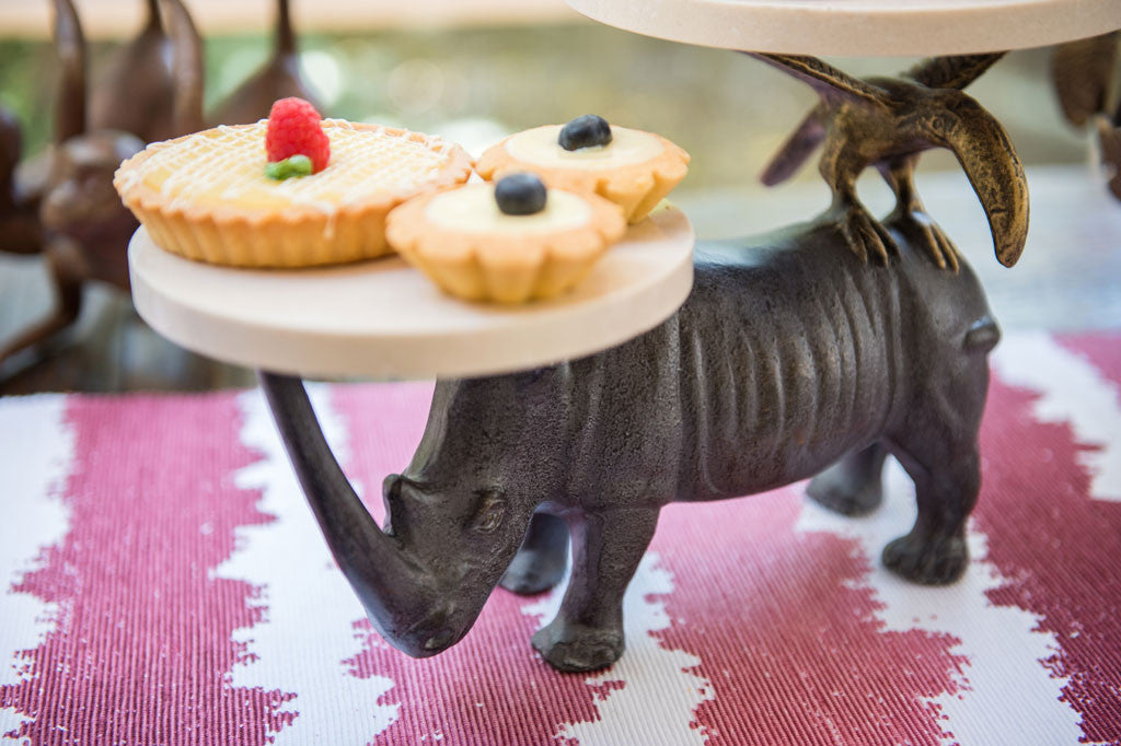 Whimsical Rhino Buffet Stand