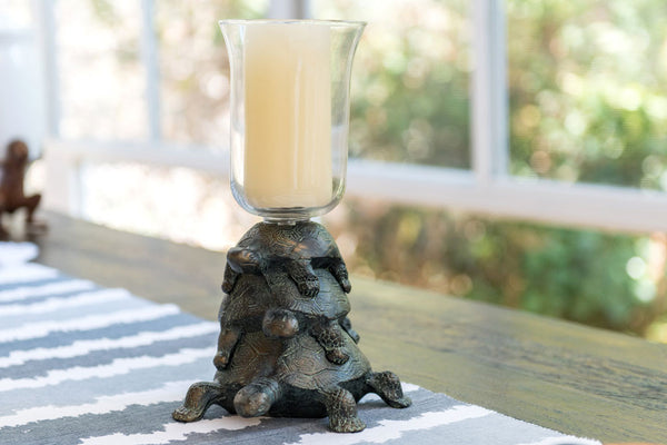 Whimsical Turtle Hurricane Candle Holder