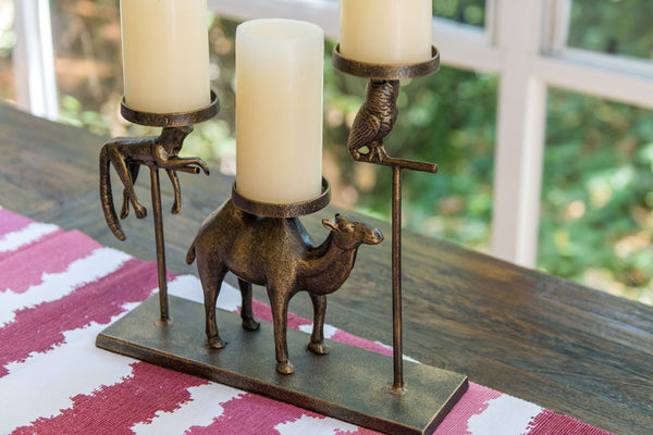 Whimsical Pillar Candleholder