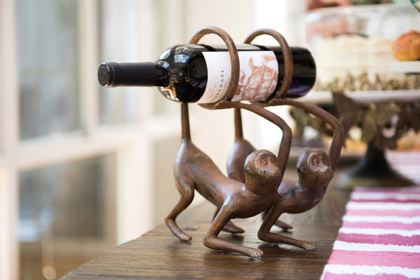Whimsical Monkey Wine Bottle Holder