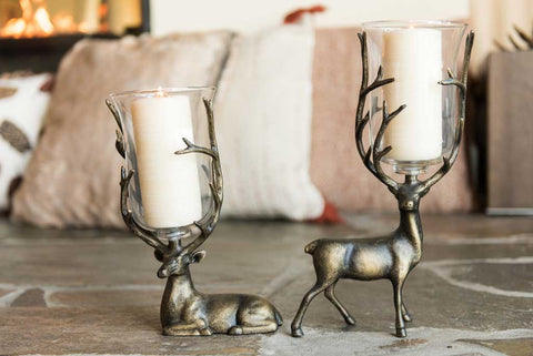 Aspen Hurricane Candleholders Set of 2