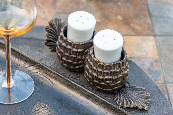Aspen Pinecone Salt and Pepper Shakers