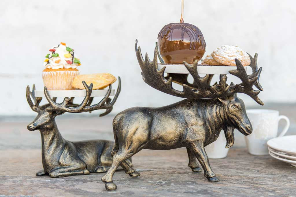 Aspen Deer Buffet Stands Set of 2