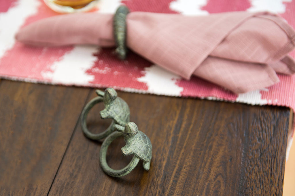 Whimsical Turtle Napkin Rings Set of 6