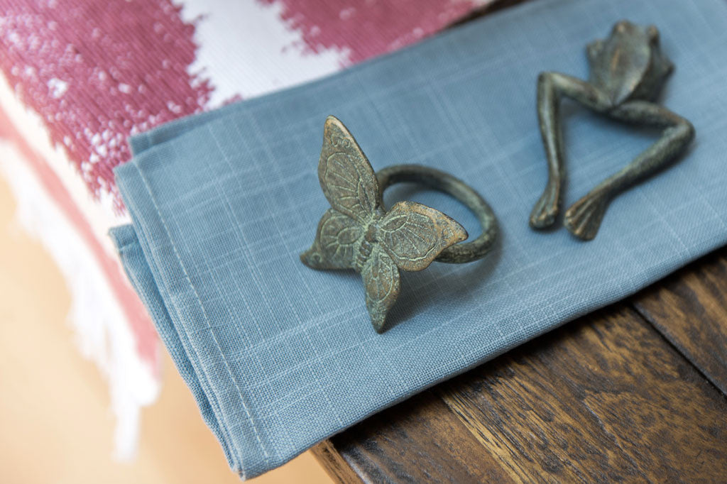 Whimsical Butterfly Napkin Rings Set of 6