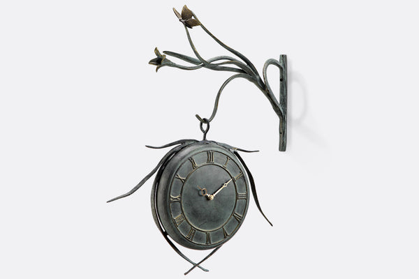 Butterfly Hanging Garden Clock