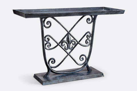 Stylized Fleur de Lys Accent Table