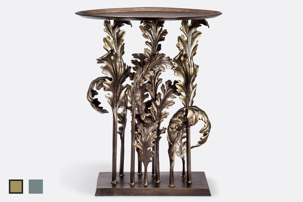 Acanthus Leaves Accent Table in Bronze