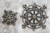 Rosette Wall Medallion Detail