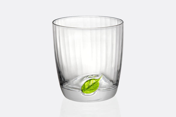 Spring Leaf Short Drinking Glass