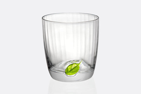 Spring Leaf Short Drinking Glass Set of 6
