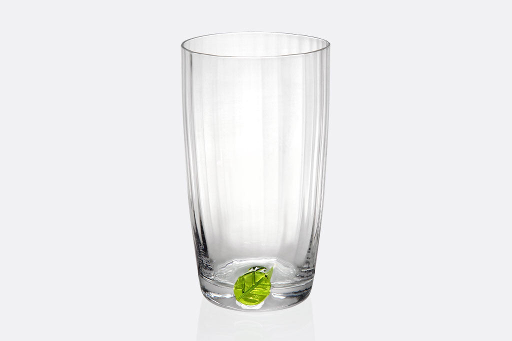 Spring Leaf Tall Drinking Glass
