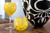 Mimosa Stemless Wine Glass Set of 9