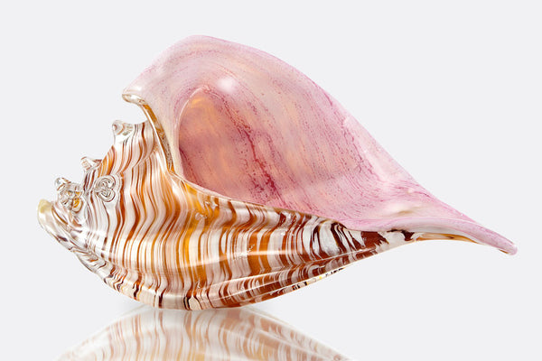 Mermaid's Blush Glass Shell