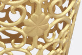 Close up detail of Leaf and Lattice Pattern Garden Stool