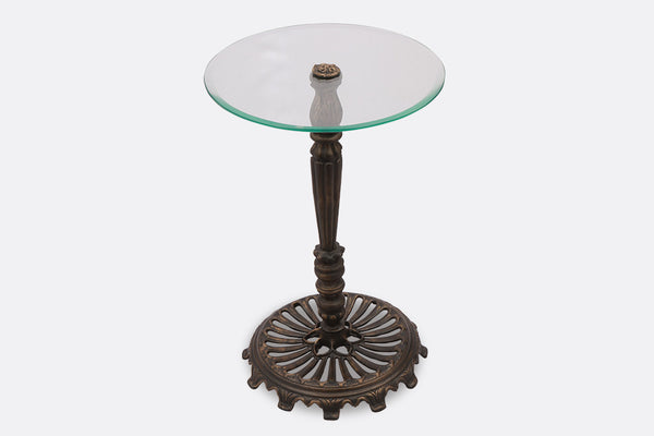 Elegant column end table