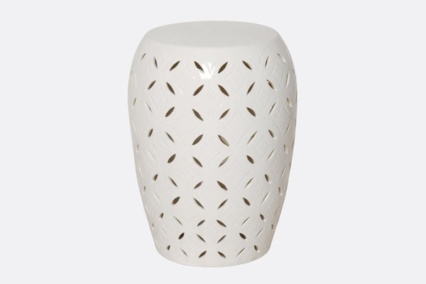 White Trafitto Garden Seat