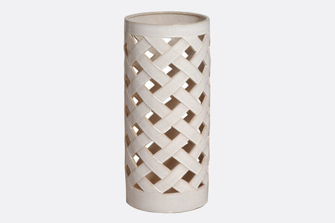 White Reticolo Umbrella Stand