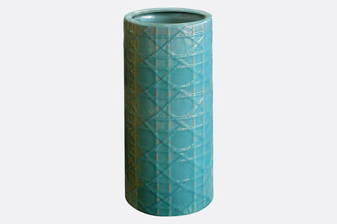 En Relief Turquoise Umbrella Stand