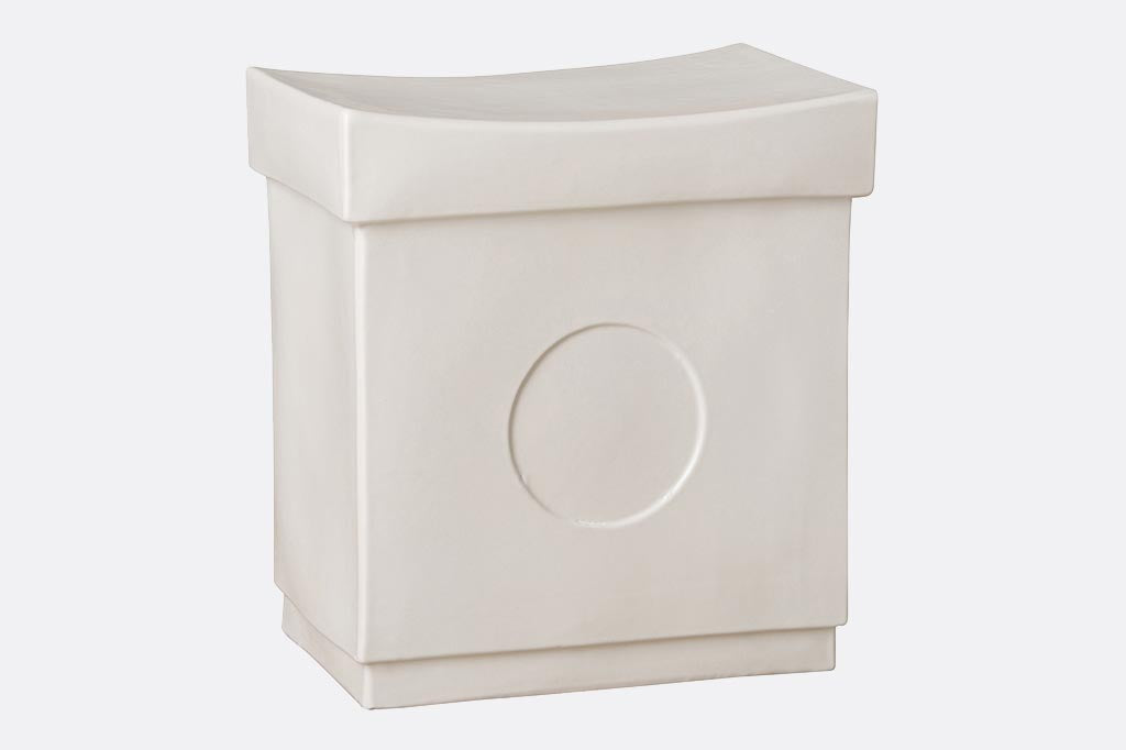 Asiatique White Garden Stool