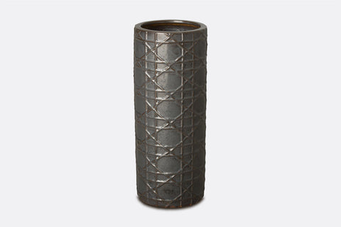 Charcoal Wickerwork Umbrella Stand