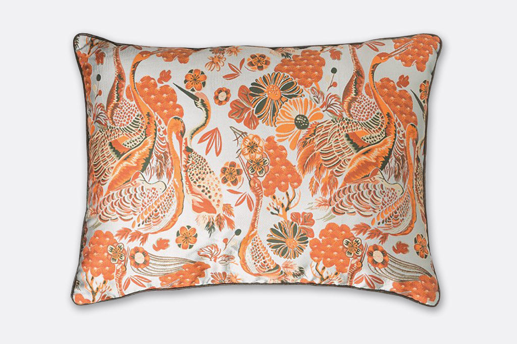 Paisley Cranes Pillow