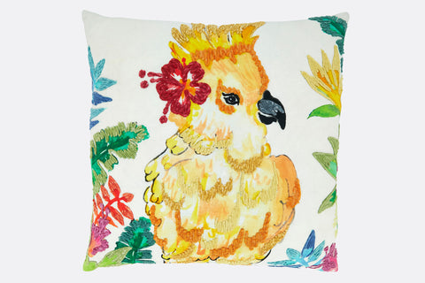 Tropical Cockatiel Pillow
