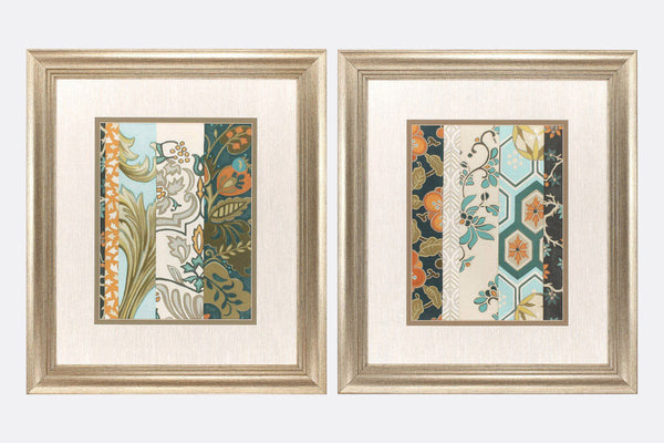 Motifs de Tissu Set of 2 Framed Art