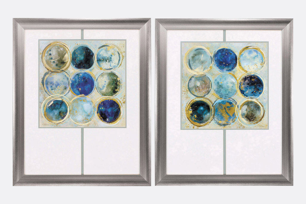 Couleurs Bleues Set of 2 Framed Art