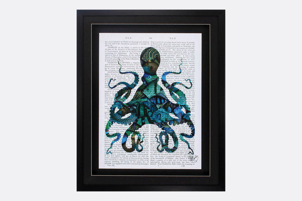 Literary Octopus Framed Art