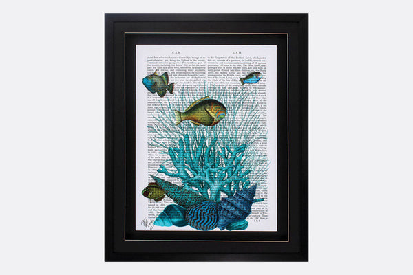 Literary Fish Framed Art