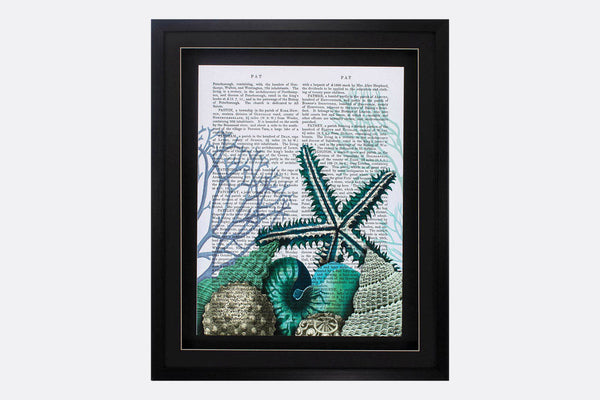 Literary Shells Framed Art