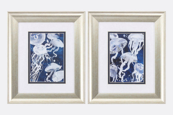 Jellyfish Swarm Set of 2 Framed Art