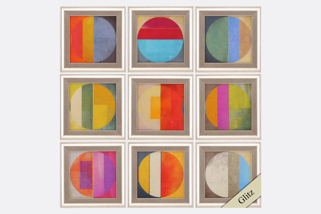 Palette de Couleurs Set of 9 Framed Art