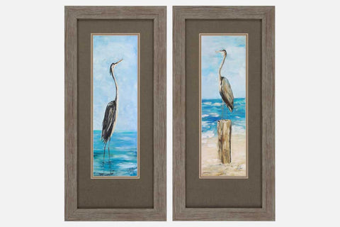 Seaside Birds Set of 2 Framed Art
