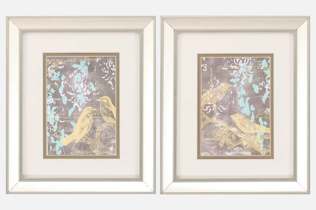 Romantic Birds Set of 2 Framed Art