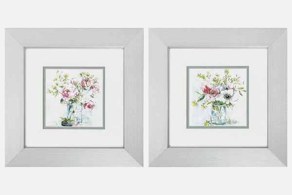 Garden Bouquets Set of 2 Framed Art