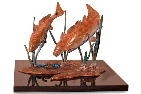 Trio of Fish Sculpture