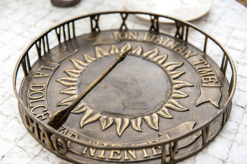 On Italian Time Sundial/Serving Tray