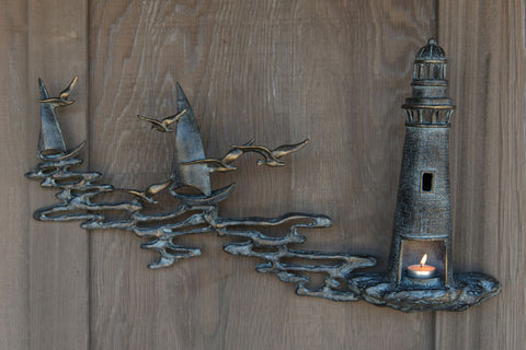 Lighthouse Votive Wall Plaque