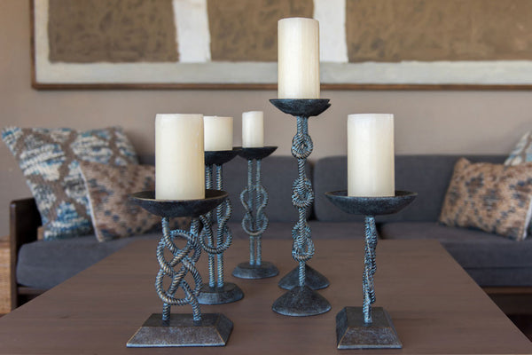 Nautical Knots Medium Candleholder