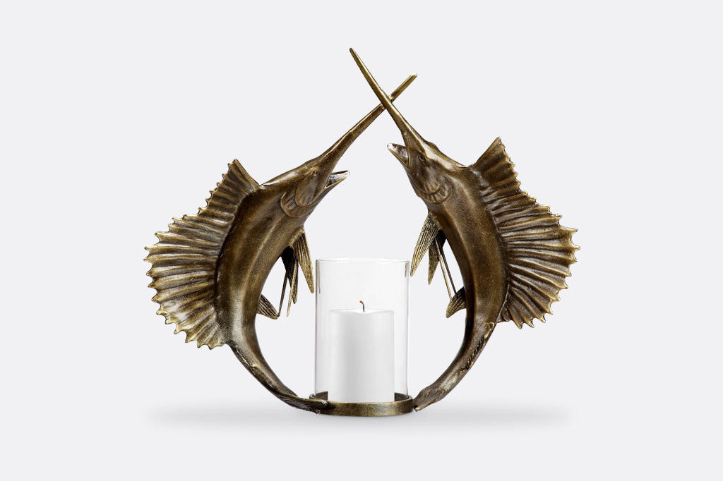 Double Sailfish Wall Sconce