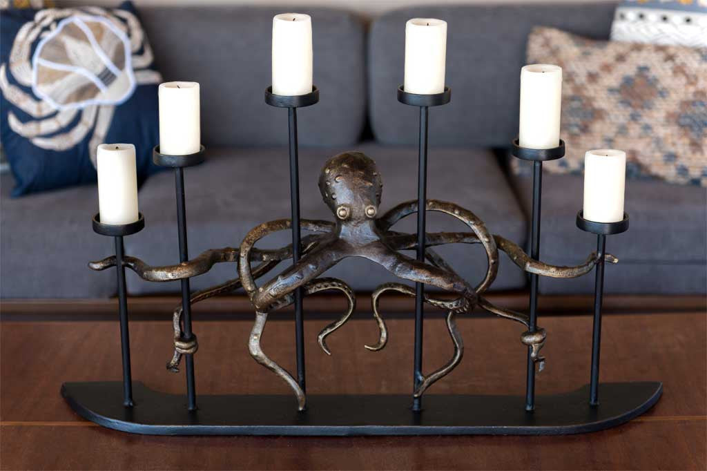 Octopus Fireplace Candelabra