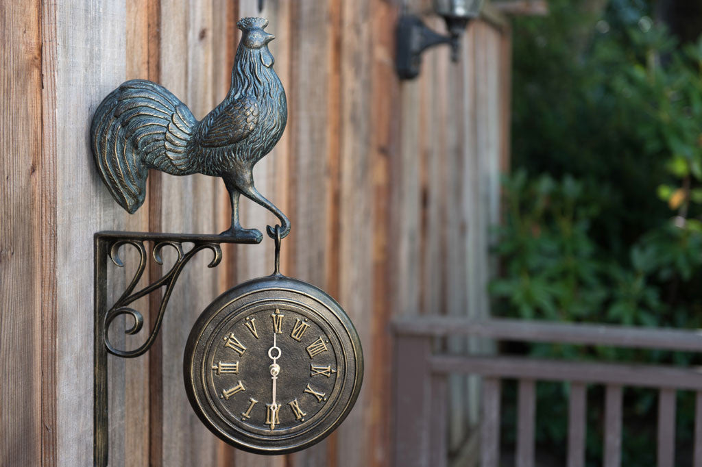 Rooster Clock and Thermometer