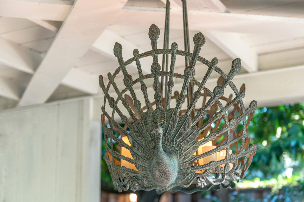 Peacock Candle Chandelier