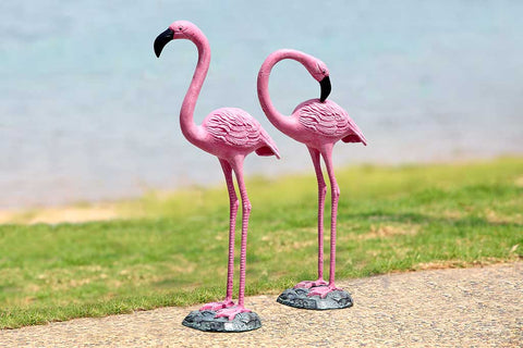 Tropical Flamingo Pair